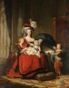 Marie-Antoinette et ses enfants Elizabeth Vigée Le Brun Domaine Public